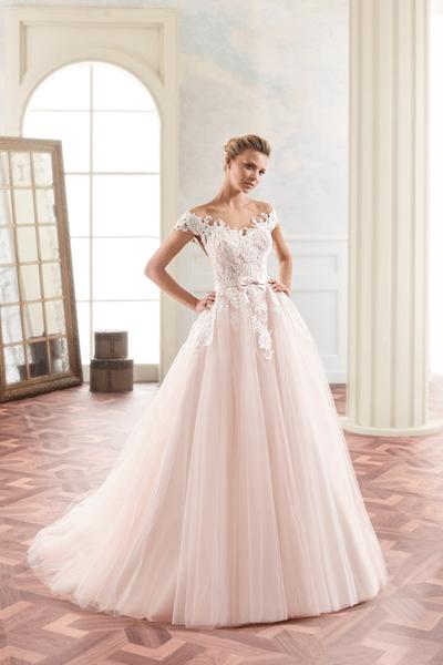 Roze Trouwjurk Kopen.Gekleurde Trouwjurken Bruidsmode De Sluier