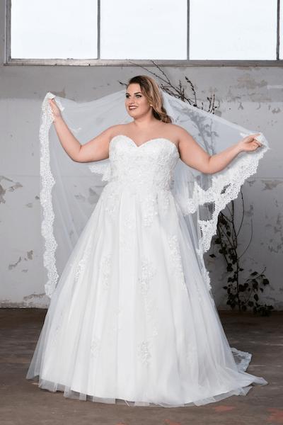 Vintage trouwjurk grote maat