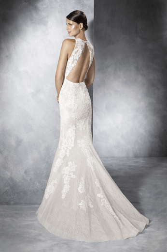 White One, Jensen, kanten bruidsjurk, lage rug, pronovias group
